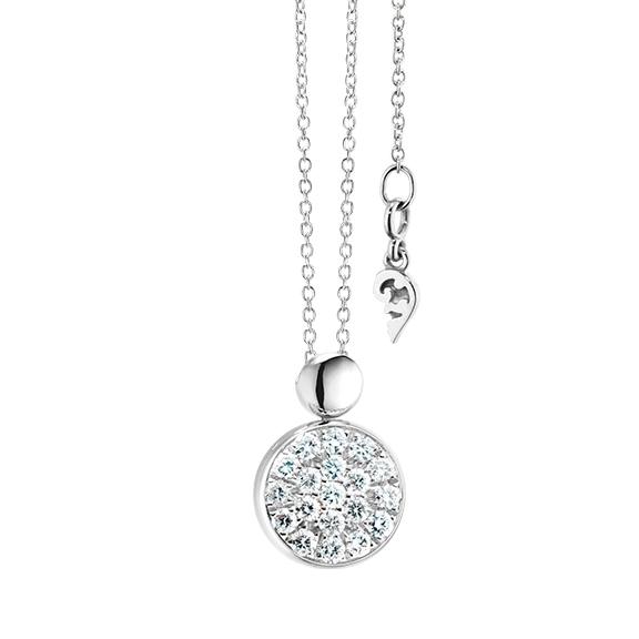 "Collier ""Dolcini"" 750WG, 19 Diamanten Brillant-Schliff 0.10ct TW/vs, Länge 45.0 cm"