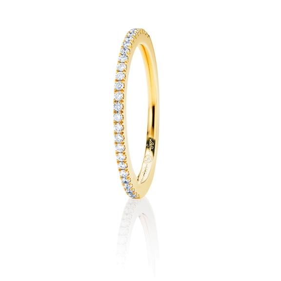 "Memoirering ""Diamante in Amore"" 750GG, 27 Diamanten Brillant-Schliff 0.18ct TW/vs1, 1 Diamant Brillant-Schliff 0.005ct TW/vs1"