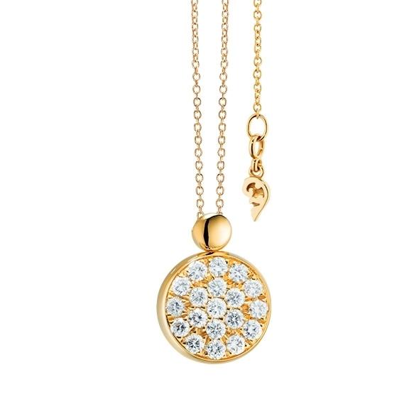 "Collier ""Dolcini"" 750GG, 19 Diamanten Brillant-Schliff 0.30ct TW/vs, Länge 45.0 cm"