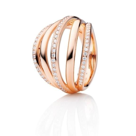 """Ring """"Emozione"""" 750RG 63 Diamanten Brillant-Schliff 0.53ct TW/vs"""