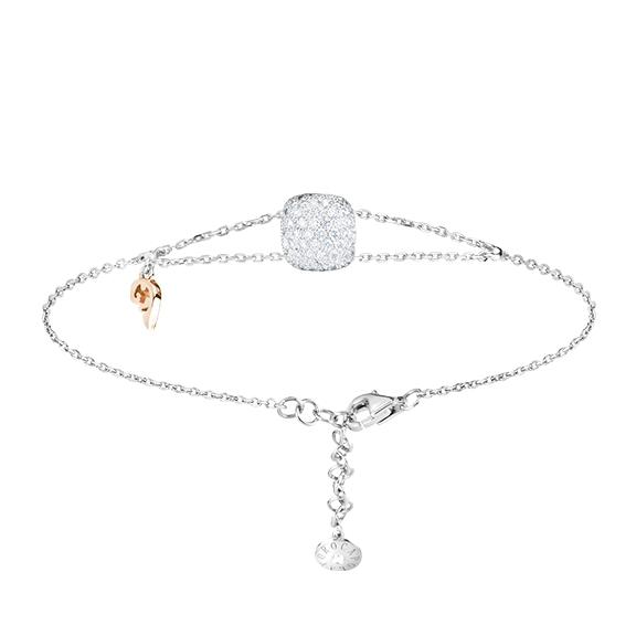 "Armband ""Happy Holi"" 750WG, 102 Diamanten Brillant-Schliff 0.58ct TW/vs1, 1 Diamant Brillant-Schliff 0.01ct TW/vs, ""Flügel"" 750RG"
