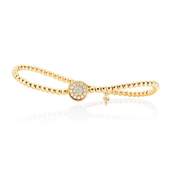 "Armband ""Dolcini"" 750GG, 19 Diamanten Brillant-Schliff 0.27ct TW/si, Innenumfang 17.0 cm"