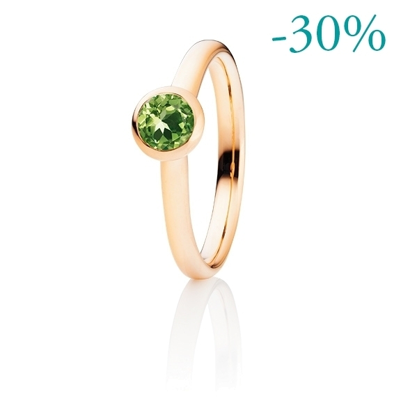 """Ring """"Tutti Frutti"""" 750RG, Peridot facettiert Ø 5.0 mm ca. 0.40ct"""