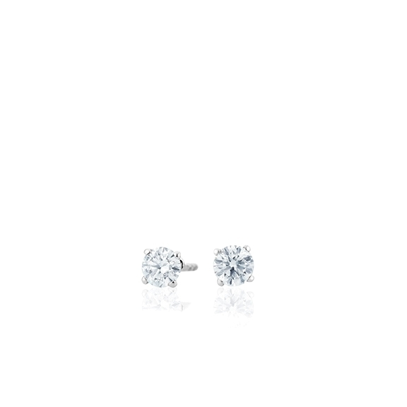"Ohrstecker ""Diamante in Amore"" 750WG 4-er Krappe, 2 Diamanten Brillant-Schliff 0.20ct TW/vs1"