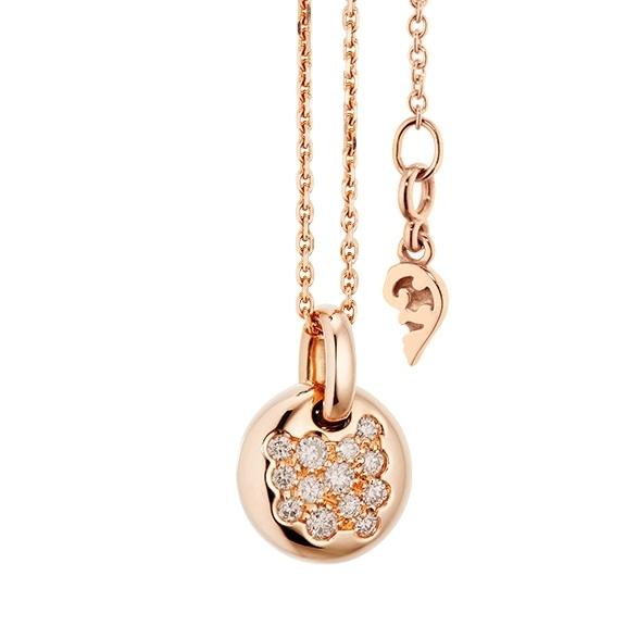 """Anhänger """"Dolcini"""" 750RG, 13 Diamanten Brillant-Schliff 0.18ct light brown"""