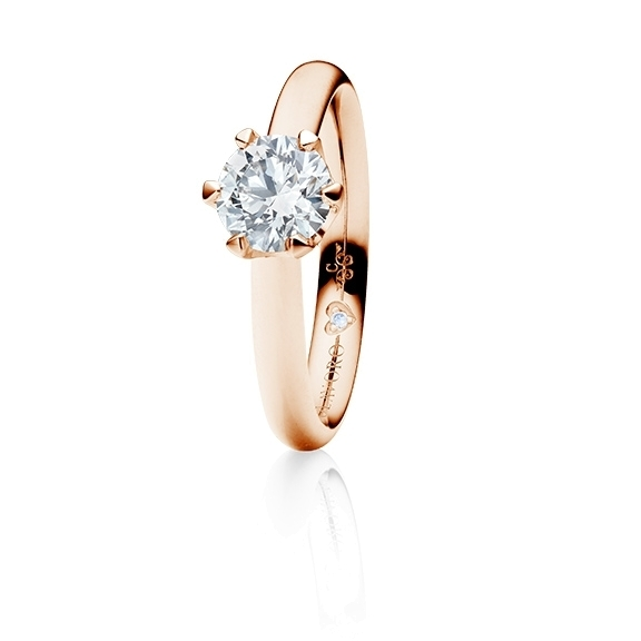 "Ring ""Endless Love"" 750RG 6-er Krappe, 1 Diamant Brillant-Schliff 0.75ct TW/vs1 GIA Zertifikat, 1 Diamant Brillant-Schliff 0.005ct TW/vs1"