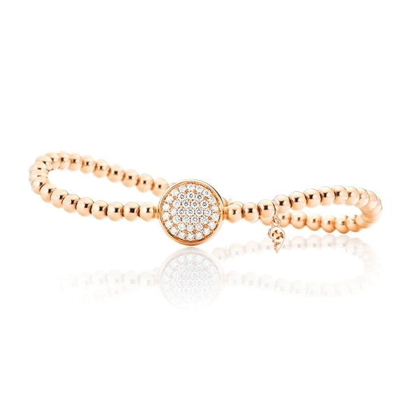 "Armband ""Dolcini"" 750RG, 37 Diamanten Brillant-Schliff 0.59ct TW/si, Innenumfang 17.0 cm"