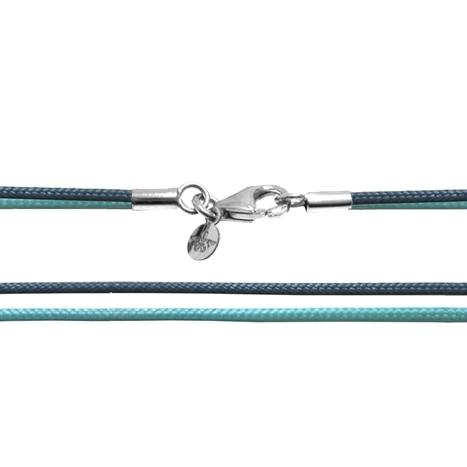 Textilband 750WG türkis + taubenblau 2-reihig 45.0 cm