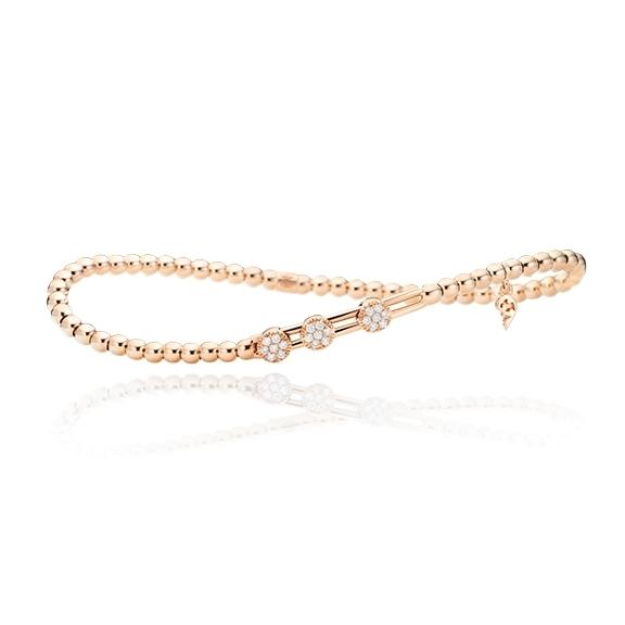 "Armband ""Trinita"" 750RG, 21 Diamanten Brillant-Schliff 0.14ct TW/si, Innenumfang 17.0 cm"