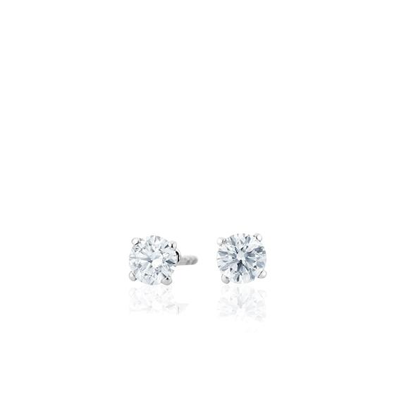 "Ohrstecker ""Diamante in Amore"" 750WG 4-er Krappe, 2 Diamanten Brillant-Schliff 0.30ct TW/vs1"