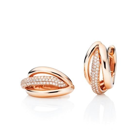 "Ohrcreolen ""Cielo"" 750RG, 118 Diamanten Brillant-Schliff 0.52ct TW/si"
