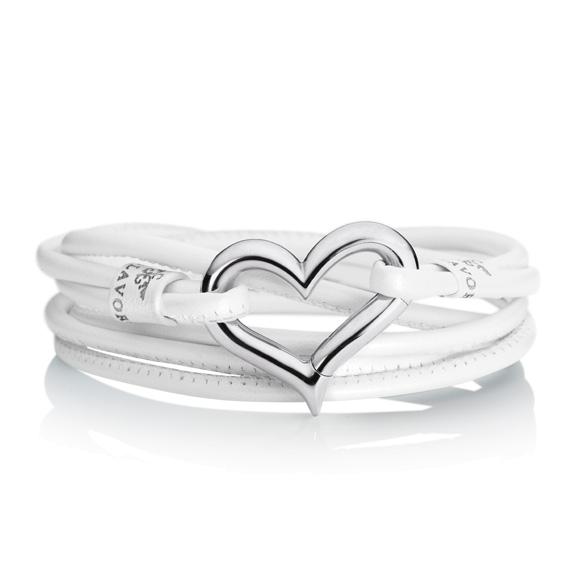 """Schliesse """"Sportivo"""" 750WG Herz, 1 Diamant Brillant-Schliff 0.01ct TW/si"""