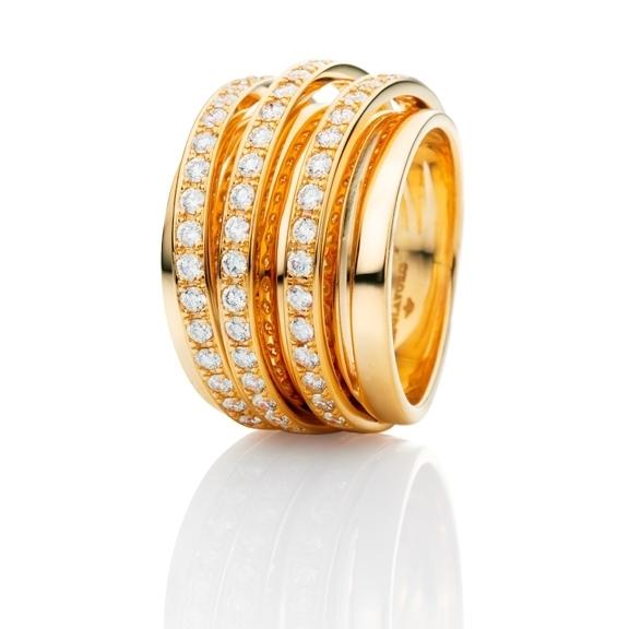 "Ring ""La Donna"" 750GG, 56 Diamanten Brillant-Schliff 1.12ct TW/si"