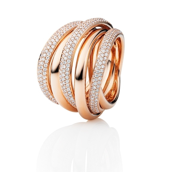 "Ring ""Cielo"" 750RG, 357 Diamanten Brillant-Schliff 1.725ct TW/si"