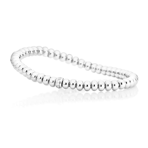 "Armband ""Flessibile"" 750WG, 11 Diamanten Brillant-Schliff 0.09ct TW/si, Innenumfang 17.0 cm"