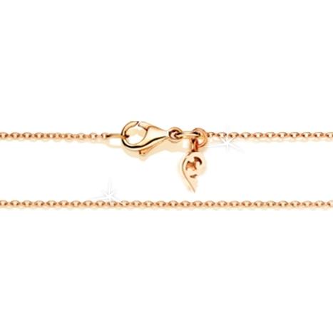 Collierkette Anker rund diamantiert 750RG 1-reihig mit Markenzeichen, Ø 1.3 mm, Länge 45.0 cm, Zwischenöse bei 42.0 cm