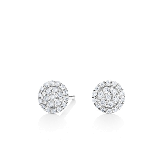 "Ohrstecker ""Dolcini"" 750WG, 38 Diamanten Brillant-Schliff 0.20ct TW/vs"