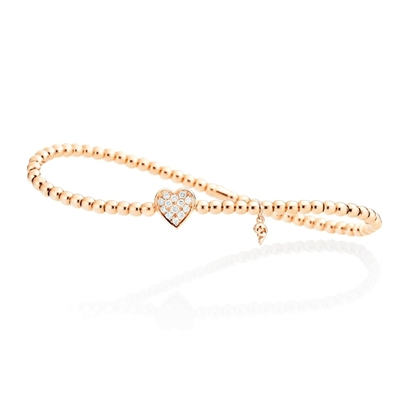 "Armband ""Flessibile"" 750RG, 13 Diamanten Brillant-Schliff 0.19ct TW/si, Innenumfang 17.0 cm"