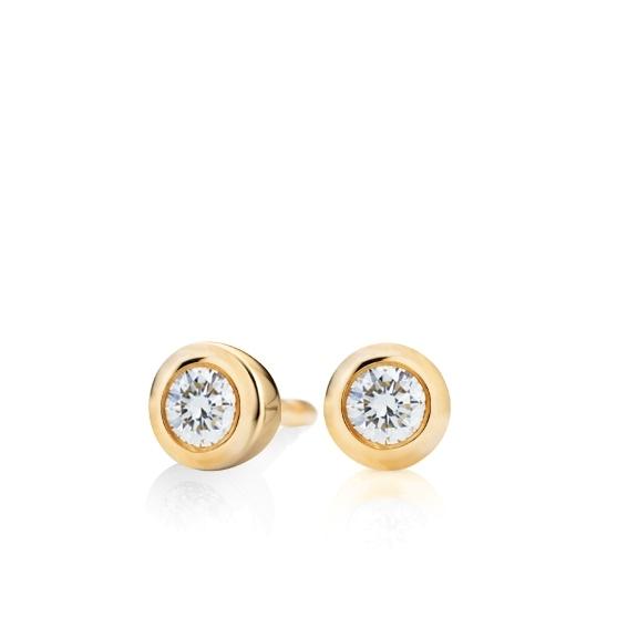 """Ohrstecker """"Diamante in Amore"""" 750GG Zargenfassung, 2 Diamanten Brillant-Schliff 0.40ct TW/vs1"""