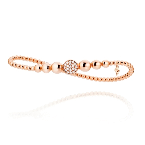 "Armband ""Dolcini"" 750RG, 19 Diamanten Brillant-Schliff 0.24ct TW/si, Innenumfang 17.0 cm"