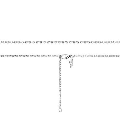 Collierkette Anker rund 750WG 1-reihig mit Markenzeichen, Ø 2.3 mm, Länge 60.0 cm, Zwischenösen bei 51.0 + 55.5 cm