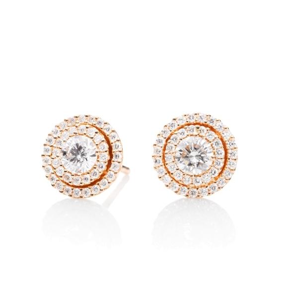 """Ohrstecker """"Brillantissimo"""" 750RG, 2 Diamanten Brillant-Schliff 0.50ct TW/si, 78 Diamanten Brillant-Schliff 0.32ct TW/si"""