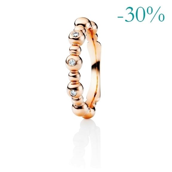 """Ring """"Fantasia"""" 750RG 3 Diamanten Brillant-Schliff 0.06ct TW/si"""