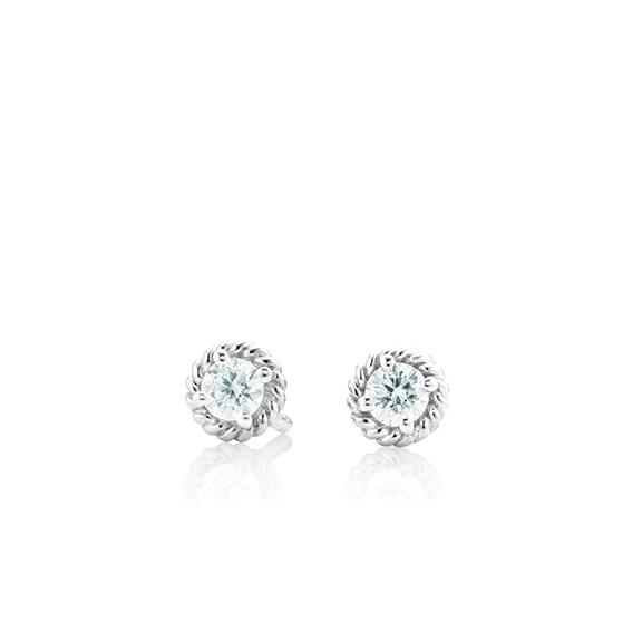 "Ohrstecker ""Amore Mio"" 750WG 2 Diamanten Brillant-Schliff 0.25ct TW/si"