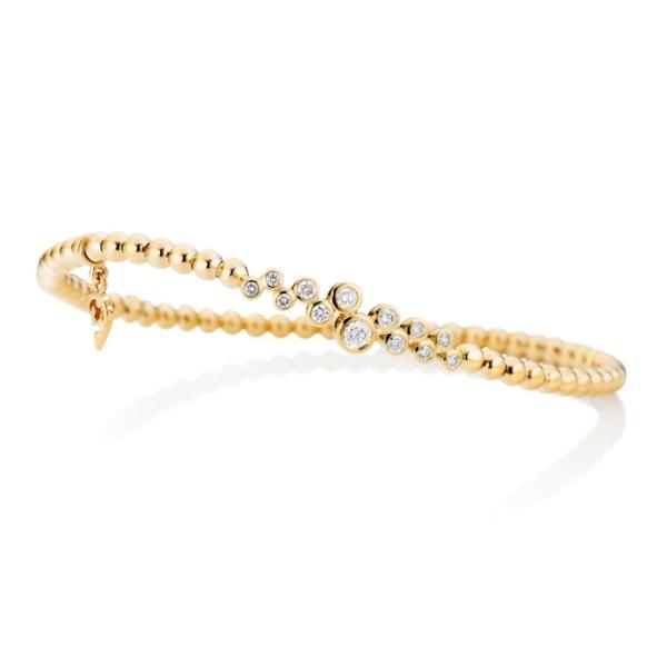 """Armband """"Prosecco"""" 750GG, 13 Diamanten Brillant-Schliff 0.29ct TW/si, Innenumfang 17.0 cm"""