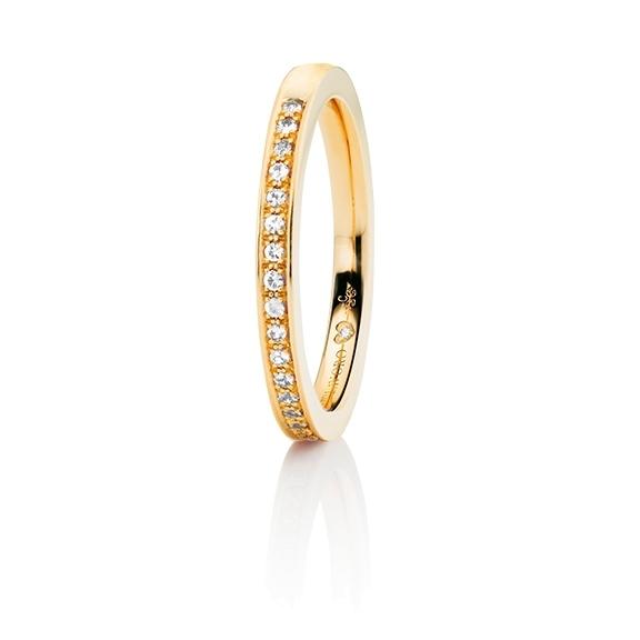 """Memoirering """"Diamante in Amore"""" 750GG Fadenfassung, 23 Diamanten Brillant-Schliff 0.15ct TW/vs1, 1 Diamant Brillant-Schliff 0.005ct TW/vs1"""