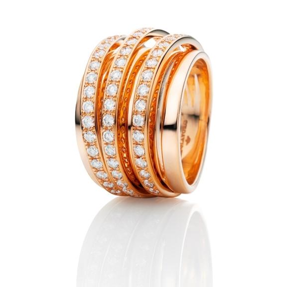 "Ring ""La Donna"" 750RG, 56 Diamanten Brillant-Schliff 1.12ct TW/si"