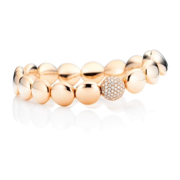 "Armband ""Dolcini"" 750RG, 55 Diamanten Brillant-Schliff 0.43ct TW/si, Innenumfang 17.0 cm"
