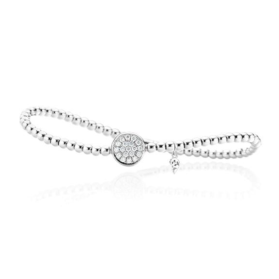"Armband ""Dolcini"" 750WG, 19 Diamanten Brillant-Schliff 0.30ct TW/vs, Innenumfang 17.0 cm"