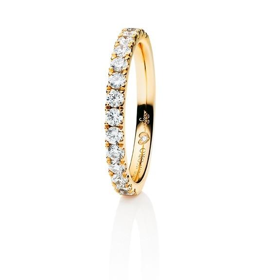"Memoirering ""Diamante in Amore"" 750GG, 15 Diamanten Brillant-Schliff 0.60ct TW/vs1, 1 Diamant Brillant-Schliff 0.005ct TW/vs1"