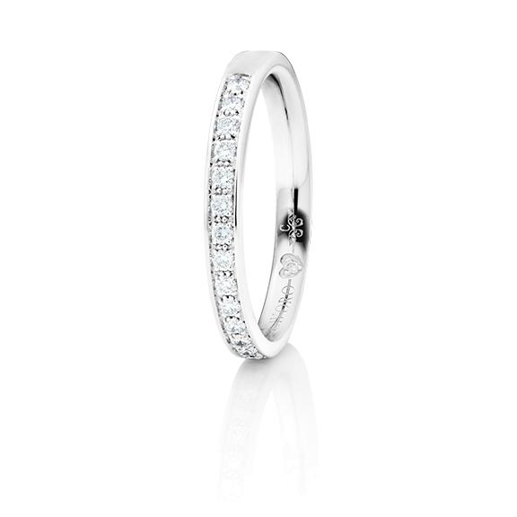 """Memoirering """"Diamante in Amore"""" 750WG Fadenfassung, 19 Diamanten Brillant-Schliff 0.25ct TW/vs1, 1 Diamant Brillant-Schliff 0.005ct TW/vs1"""