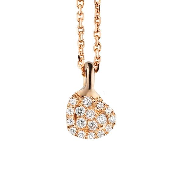 "Anhänger ""Dolcini"" 750RG, 17 Diamanten Brillant-Schliff 0.08ct TW/vs"