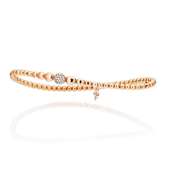 "Armband ""Dolcini"" 750RG, 19 Diamanten Brillant-Schliff 0.13ct TW/si, Innenumfang 17.0 cm"