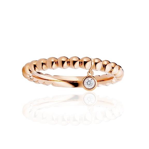 """Ring """"Fantasia"""" 750RG, 1 Diamant Brillant-Schliff 0.05ct TW/vs1"""