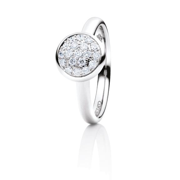 "Ring ""Dolcini"" 750WG, 19 Diamanten Brillant-Schliff 0.30ct TW/vs1"