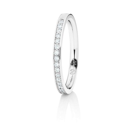"""Memoirering """"Diamante in Amore"""" 750WG Fadenfassung, 23 Diamanten Brillant-Schliff 0.15ct TW/vs1, 1 Diamant Brillant-Schliff 0.005ct TW/vs1"""