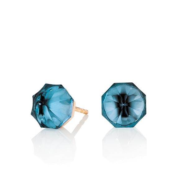 "Ohrstecker ""My Sunshine"" 750RG, Topas London blue Cabochon 8.90 x 8.90 mm facettiert, ca. 7.40ct"