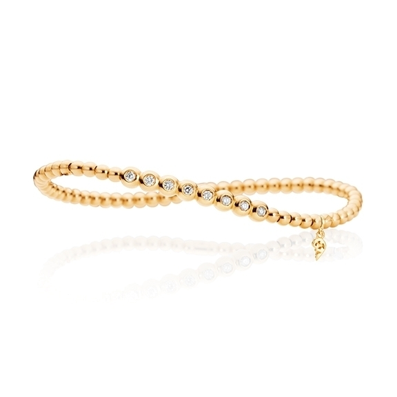 "Armband ""Flessibile"" 750GG, 8 Diamanten Brillant-Schliff 0.20ct TW/vs, Innenumfang 17.0 cm"