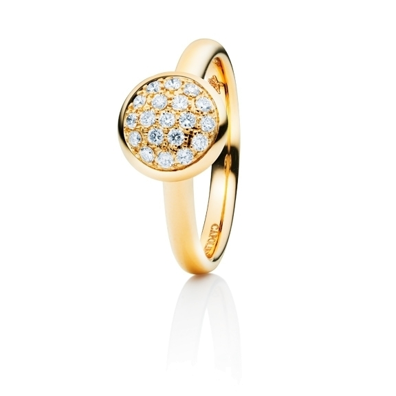 "Ring ""Dolcini"" 750GG, 19 Diamanten Brillant-Schliff 0.30ct TW/vs"