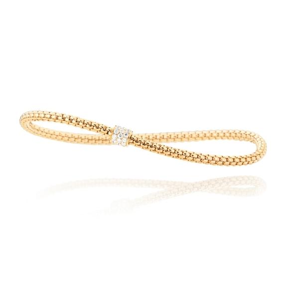 "Armband ""Flessibile"" 750GG, 23 Diamanten Brillant-Schliff 0.31ct TW/si, Innenumfang 17.0 cm"