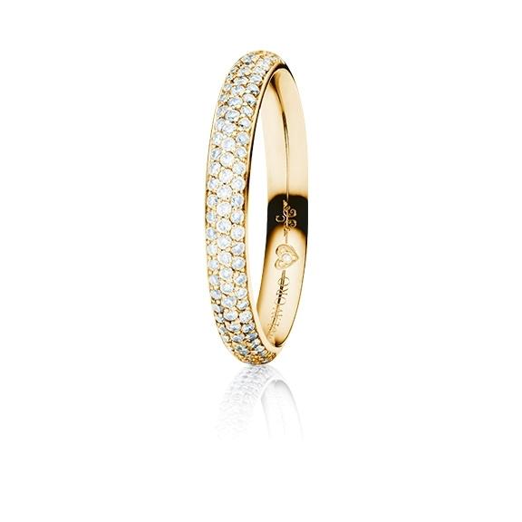 """Ring """"Diamante in Amore"""" 750GG Pavé, 85 Diamanten Brillant-Schliff 0.40ct TW/vs1, 1 Diamant Brillant-Schliff 0.005ct TW/vs1"""