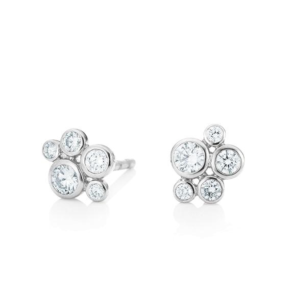 """Ohrstecker """"Prosecco"""" 750WG, 10 Diamanten Brillant-Schliff 0.36ct TW/vs"""