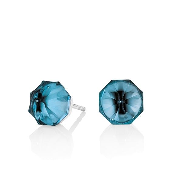 "Ohrstecker ""My Sunshine"" 750WG, Topas London blue Cabochon 8.90 x 8.90 mm facettiert, ca. 7.40ct"
