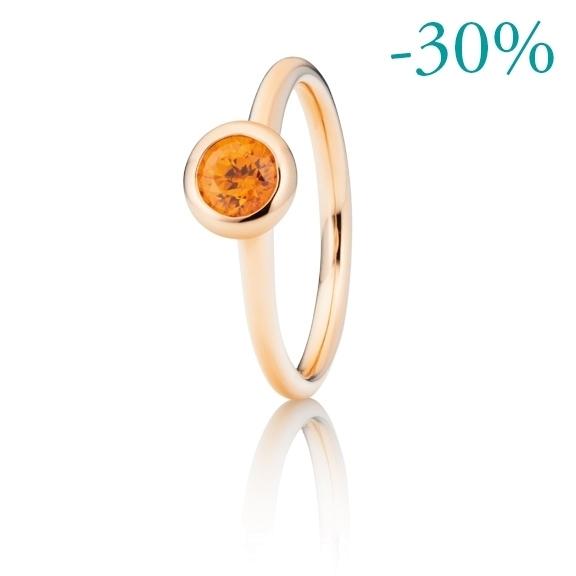 """Ring """"Piccolo Mondo"""" 750RG, Granat Mandarin facettiert Ø 5.0 mm ca. 0.50ct"""