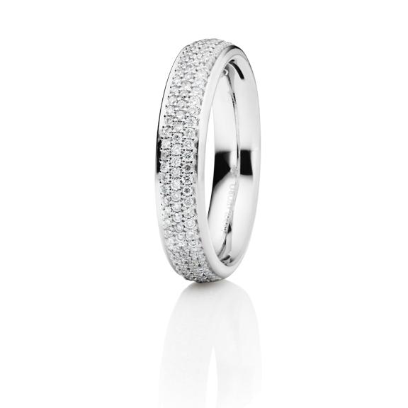 """Ring """"Fantasia"""" 750WG, 109 Diamanten Brillant-Schliff 0.44ct TW/si"""