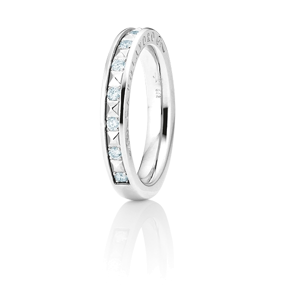 "Ring ""Manhattan"" 750WG, 10 Diamanten Brillant-Schliff 0.20ct TW/vs1"